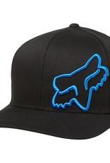 fox head FOX FLEX 45 FLEXFIT HAT [BLK/BLU] XS/S