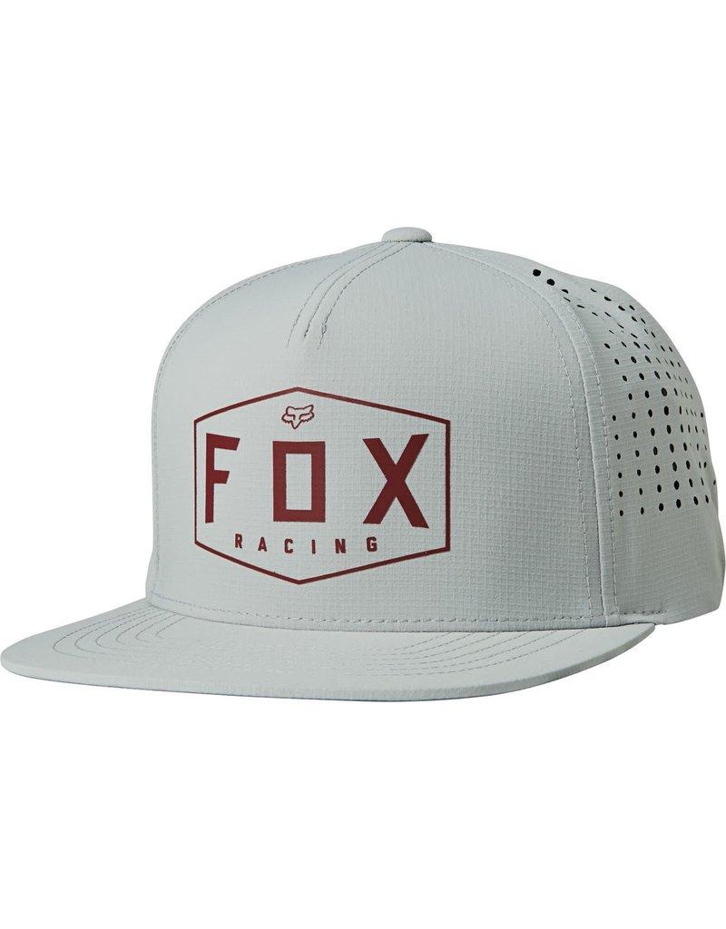 fox head FOX - CREST SNAPBACK HAT [GRY/RD] OS