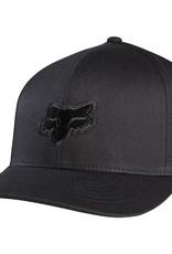fox head FOX LEGACY FLEXFIT HAT [BLK/BLK] XS/S