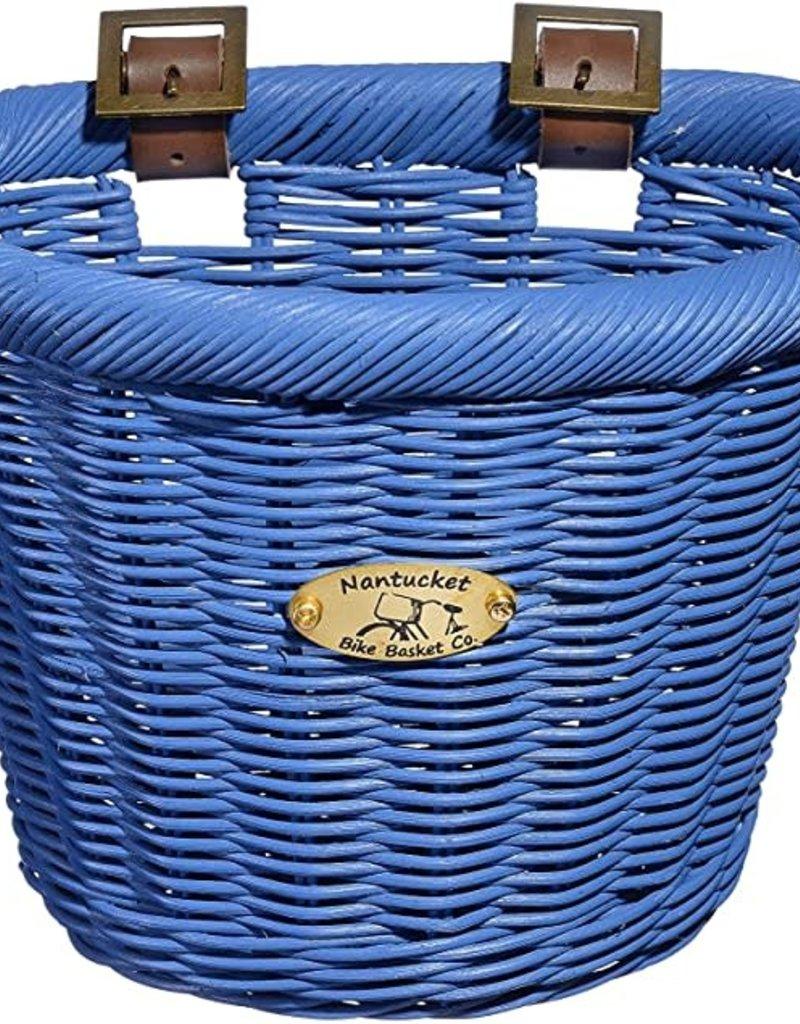 NANTUCKET BIKE BASKET COMPANY BASKET NANTUCKET BUOY D-SHAPED ROYAL BLUE