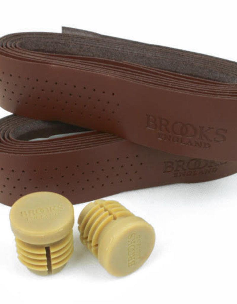 Brooks Brooks, Perforated Leather, Handlebar tape, Antique Brown