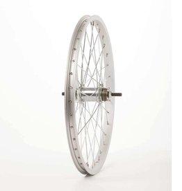 Wheel Shop Wheel Shop, Alex C1000 Silver/ CF-E10 Coaster 18T, Wheel, Rear, 20'' / 406, Holes: 36, Bolt-on, 110mm, Coaster