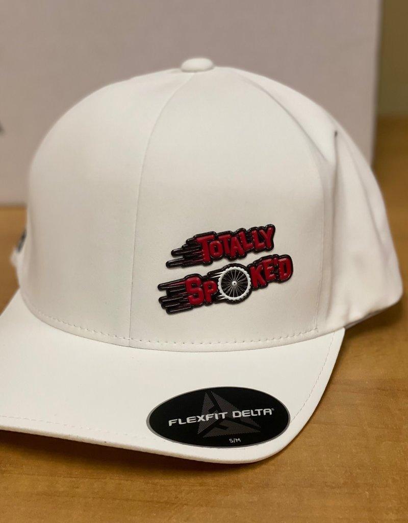 Totally Spoke'd Totally Spoke'd Delta Cap Front Logo White L/XL