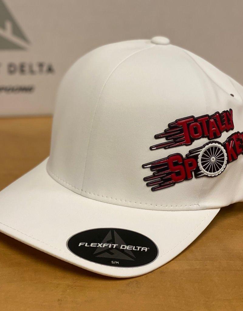 Totally Spoke'd Totally Spoke'd Delta Cap Side Logo White S/M