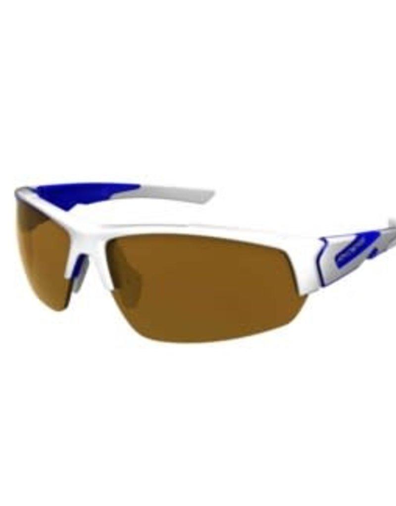 STRIDER POLY WHITE-BLUE / BROWN LENS ANTI-FOG