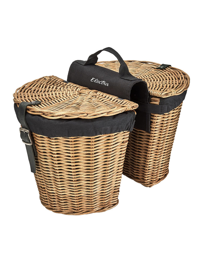 ELECTRA Basket Electra Rattan Panniers w/Liner Natural Rear