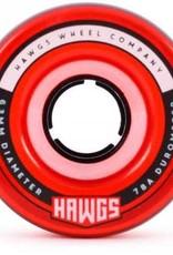 hawgs Fattie Hawgs 63mm Clear Red 78a Wheels (set of 4)