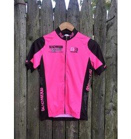 LOGICA SPORT Biemme 'BWB' Race Jersey V3 Hi-Viz Pink Lg