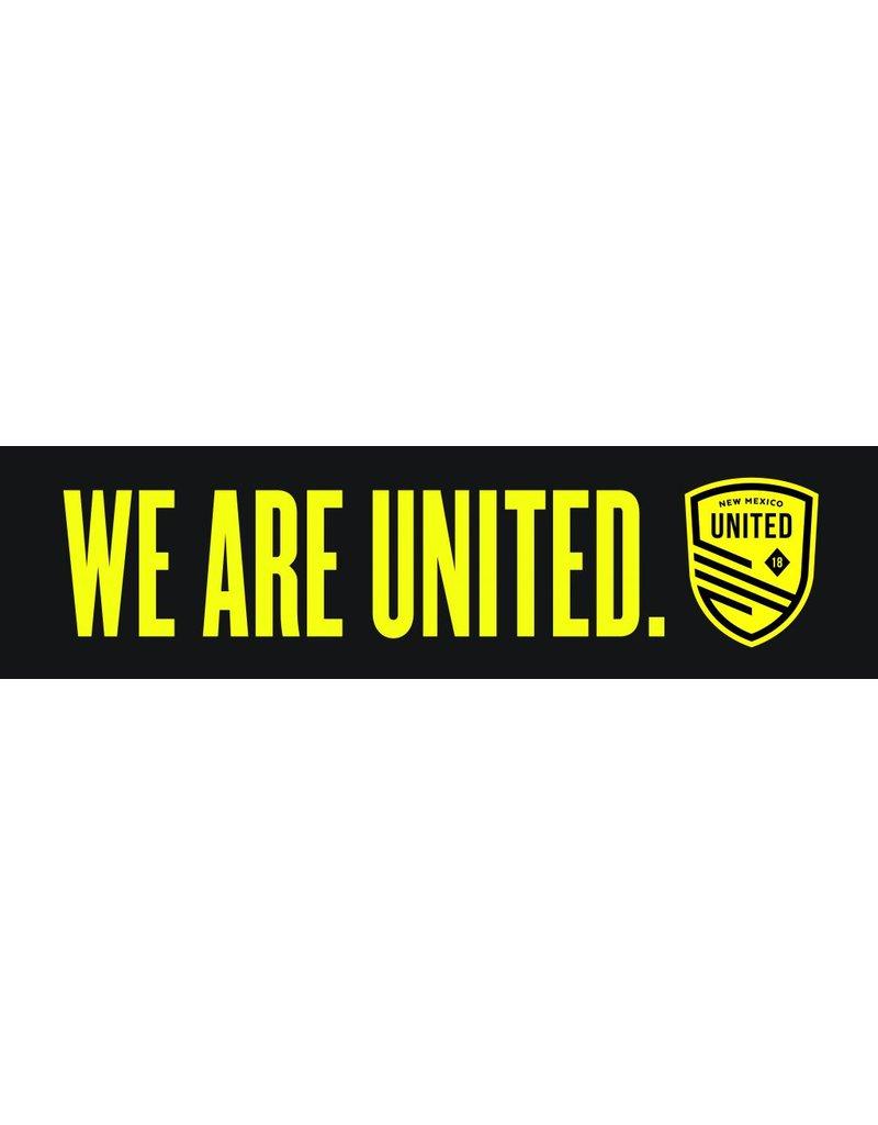 We Are United Bumper Sticker