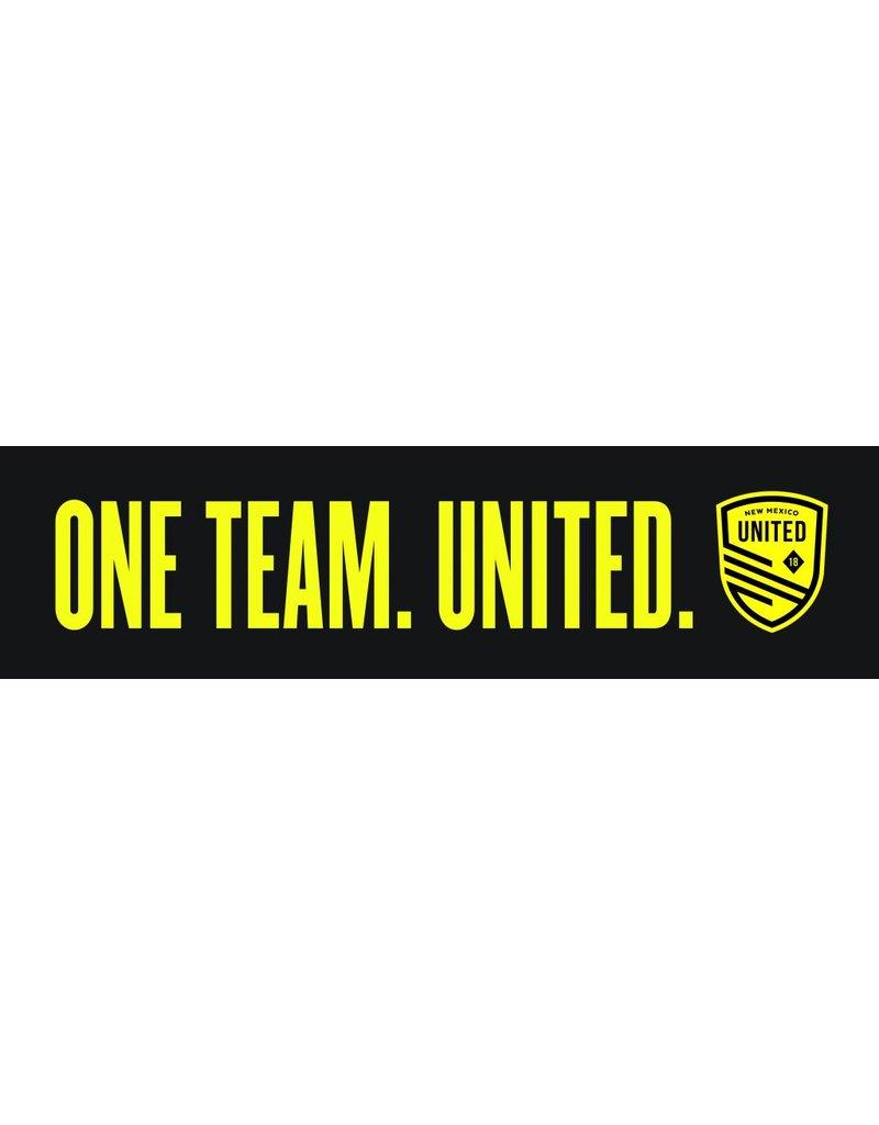 One Team United Bumper Sticker