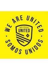 Yellow Somos Unidos Badge Decal Sticker