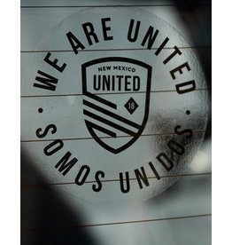 Somos Unidos Badge Clear Window Decal
