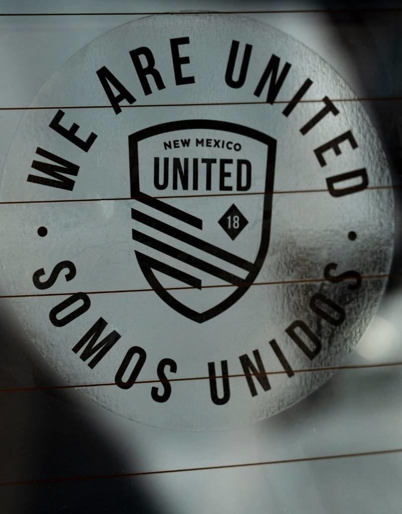Somos Unidos Badge Clear Window Decal