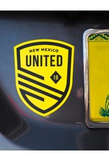 Yellow United Shield Decal Sticker