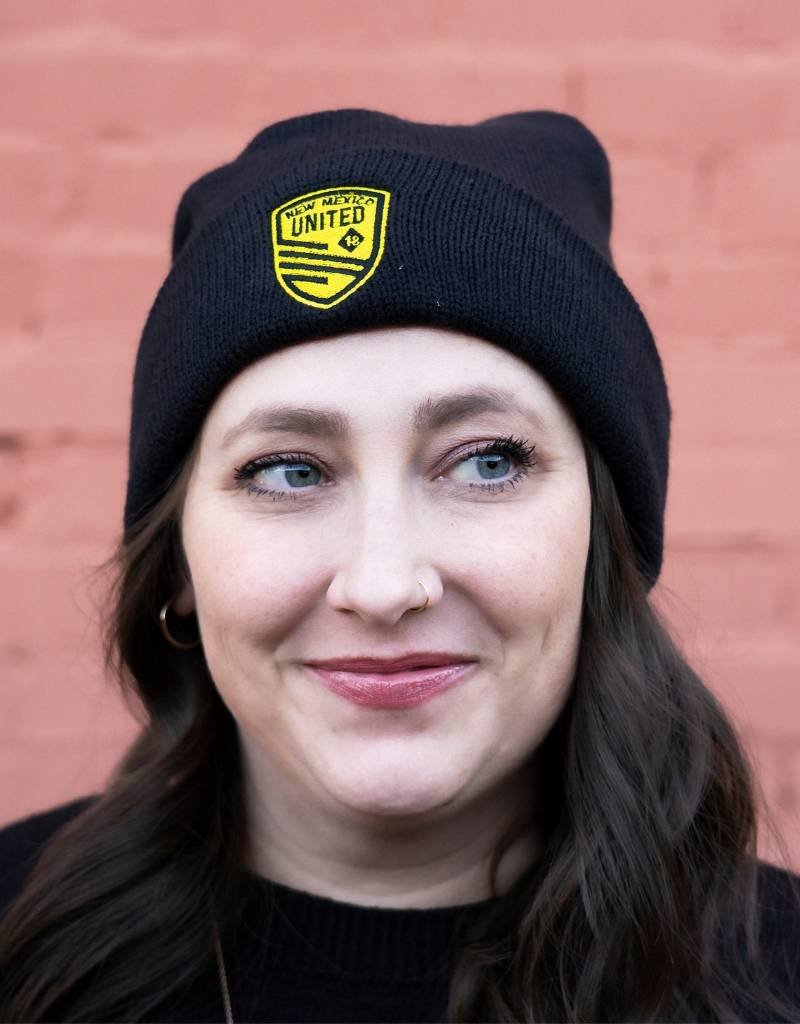 Embroidered United Shield Pom Beanie