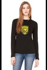 (W) Long Sleeve-Black/Yellow Shield