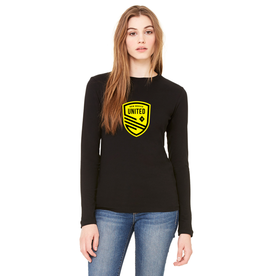 (W) Long Sleeve-Black/Yellow Shield