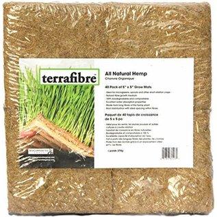 "Terrafibre Terrafibre Hemp Grow Mat 40pk 5"" x 5"""