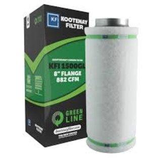 """Kootney Filter KFI GREENLINE 1500 CHARCOAL FILTER 8"""" W/FLANGE 882 CFM"""