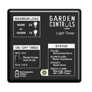 GARDEN CONTROLS LIGHT TIMER GARDEN CONTROLS
