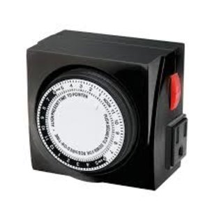 Energy Power TIMEMASTER MECHANICAL TIMER 120V 2 OUTLET MAX 15AMP