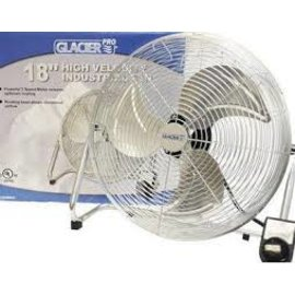 GLACIER GLACIER HIGH VELOCITY FLOOR FAN 18""
