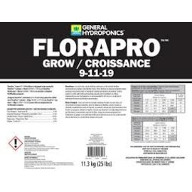 General Hydroponics GH FLORAPRO GROW [9-11-19] 25LB