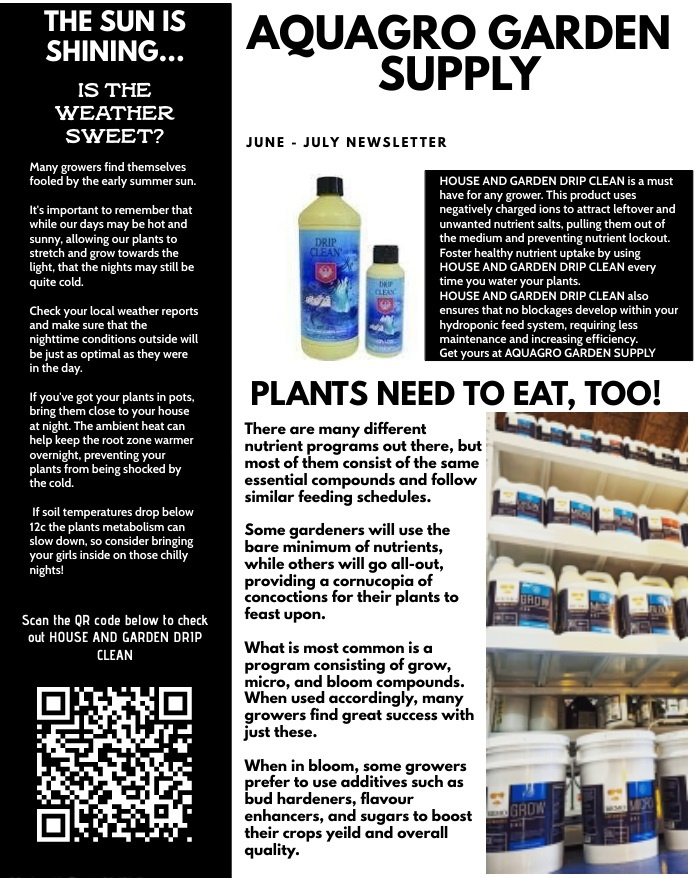AQUAGRO COMMUNITY NEWSLETTER - ARE YOUR PLANTS WARM ENOUGH AT NIGHT? PLUS SPECIAL ANNOUNCEMENT (JUNE - JULY EDITION)