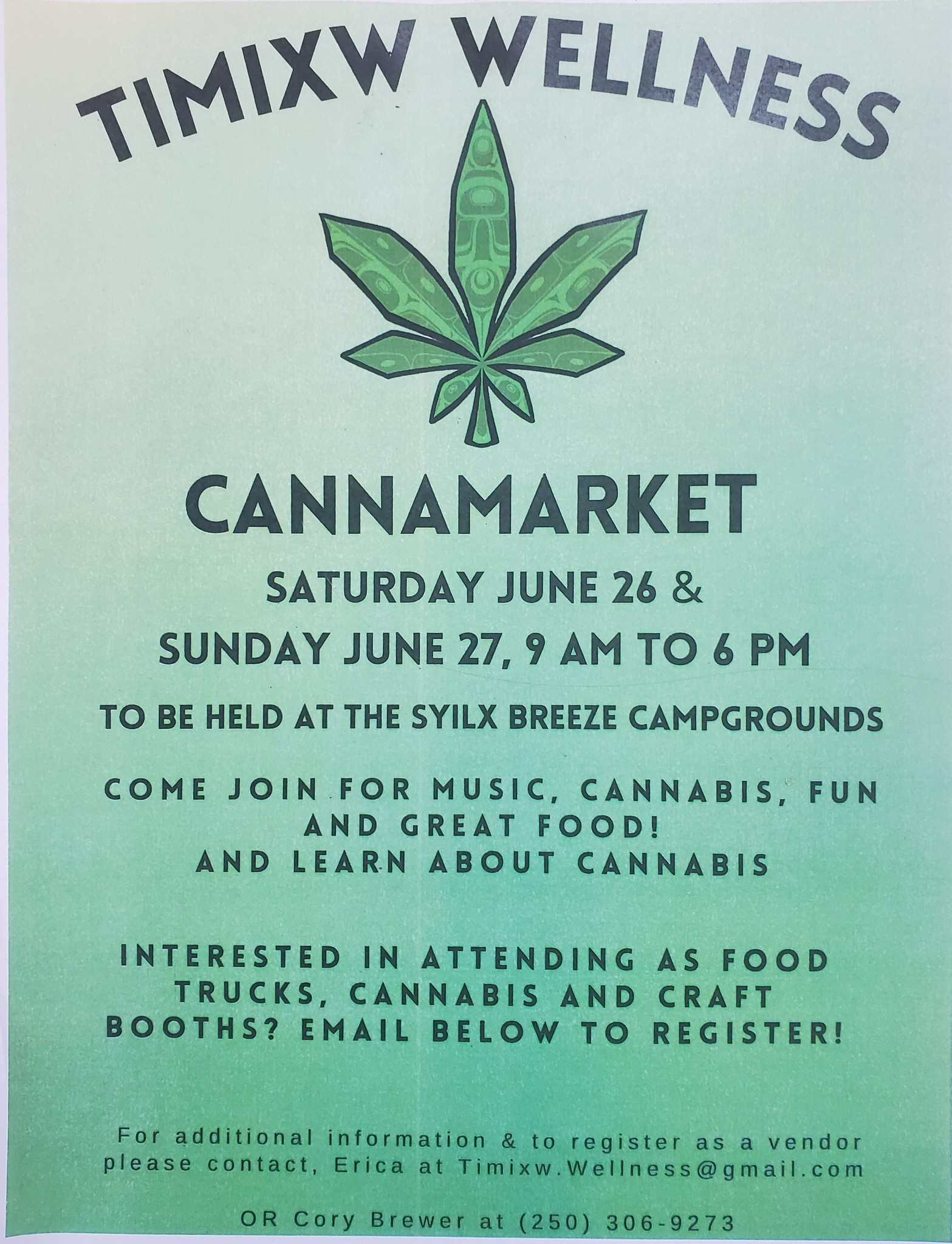 COME SEE US AT THE CANNAMARKET