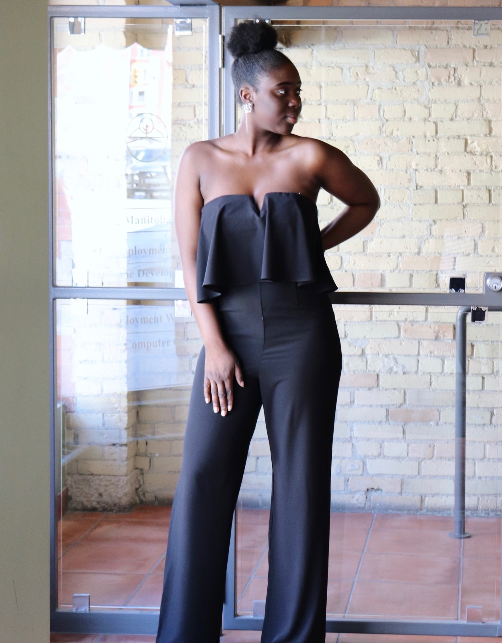 DO+BE Strapless Ruffle Bust Jumpsuit