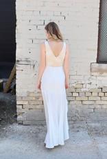 MANIJU Lace top & chiffon btm hi-lo dress