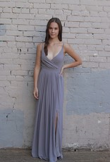 HUSH COLLECTION Pleated bust flowy bottom maxi dress