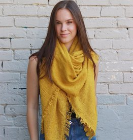HUSH + SHOUT Mohair sqaure blanket scarf