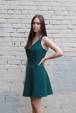 HUSH + SHOUT Sleeveless skater dress w/ crossed open back