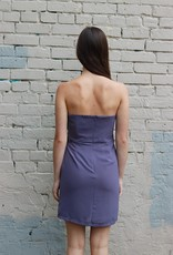 HUSH + SHOUT Knotch bust detail fitted strapless dress