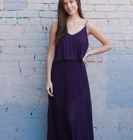 HUSH + SHOUT Pleated woven maxi dress