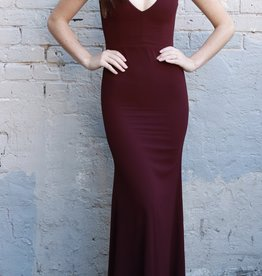 HUSH COLLECTION Mermaid silhouette v neck gown