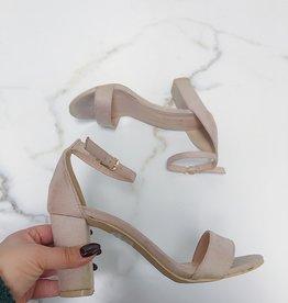 CHERISH Block heel, ankle strap open toe heel