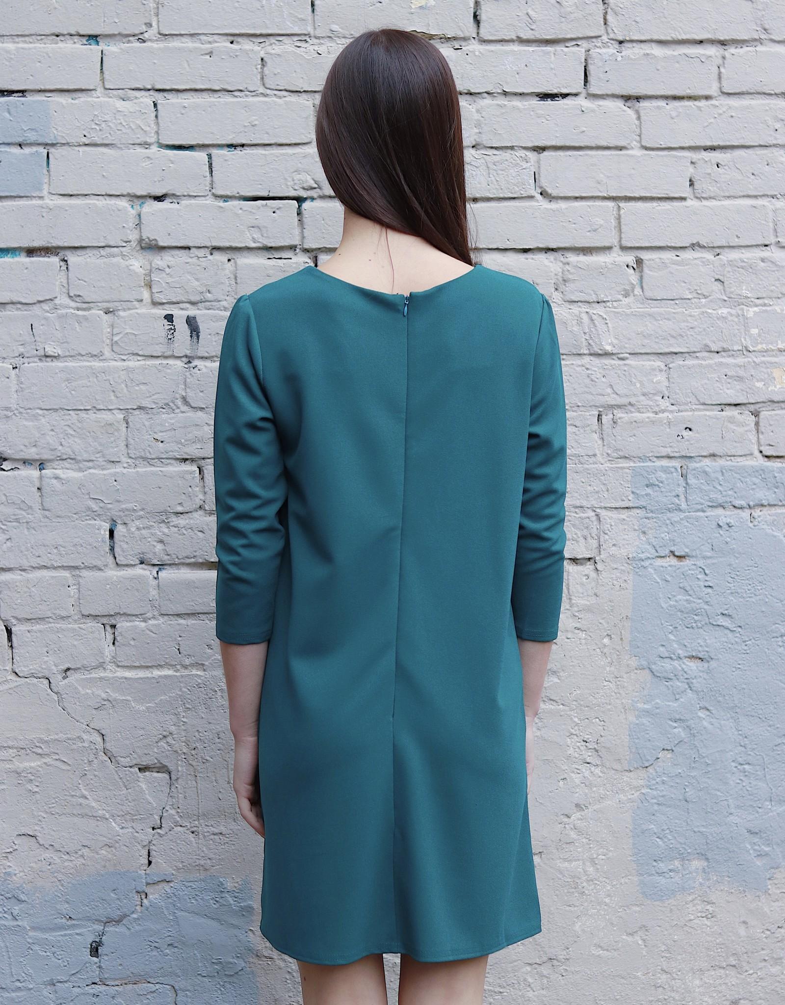 HUSH + SHOUT 3/4 Sleeve knit dress w/ pockets