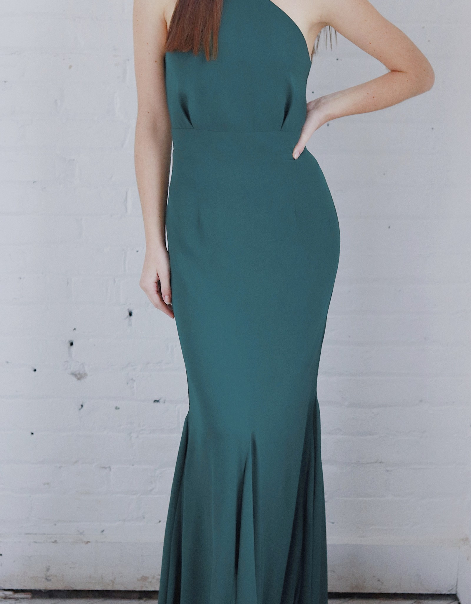 HUSH COLLECTION Halter style mermaid silouette gown