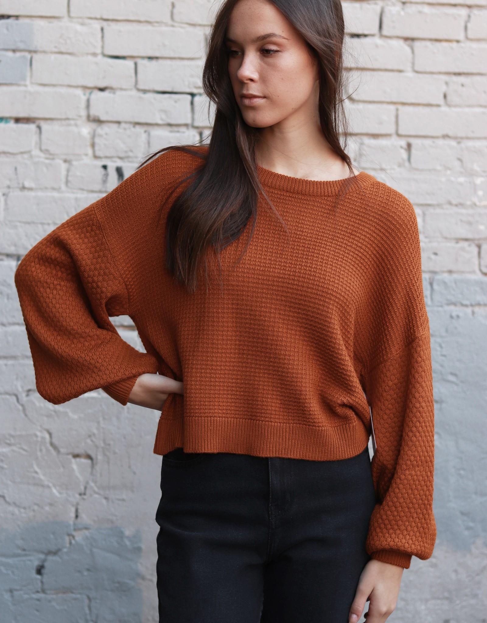 HUSH + SHOUT Crew neck balloon sleeve sweater
