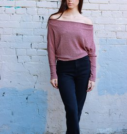 HUSH + SHOUT Off the shoulder thermal top