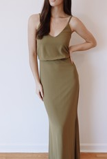 HUSH COLLECTION Mermaid silhouette gown w/ slit