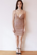 HUSH + SHOUT Sequin mini bodycon dress