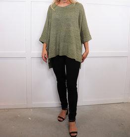 HUSH Knit oversized sweater with side split hem