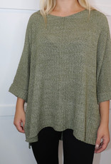HUSH Knit oversized sweater with side split hem