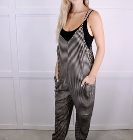 HUSH Houndstooth Cami Jumpsuit