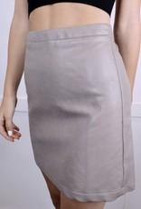 HUSH Vegan Leather A-line Mini Skirt