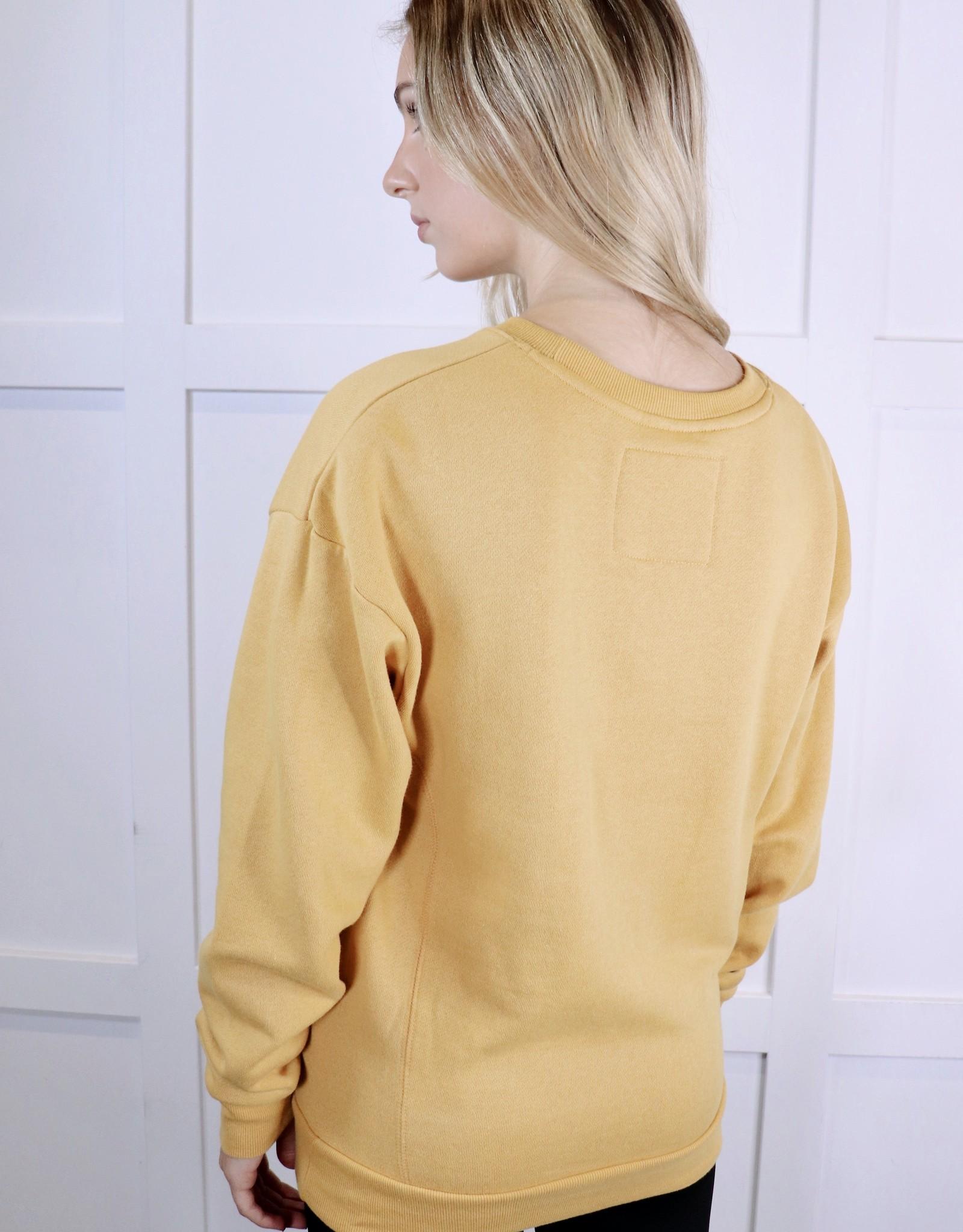 HUSH Drop shoulder fleece sweater