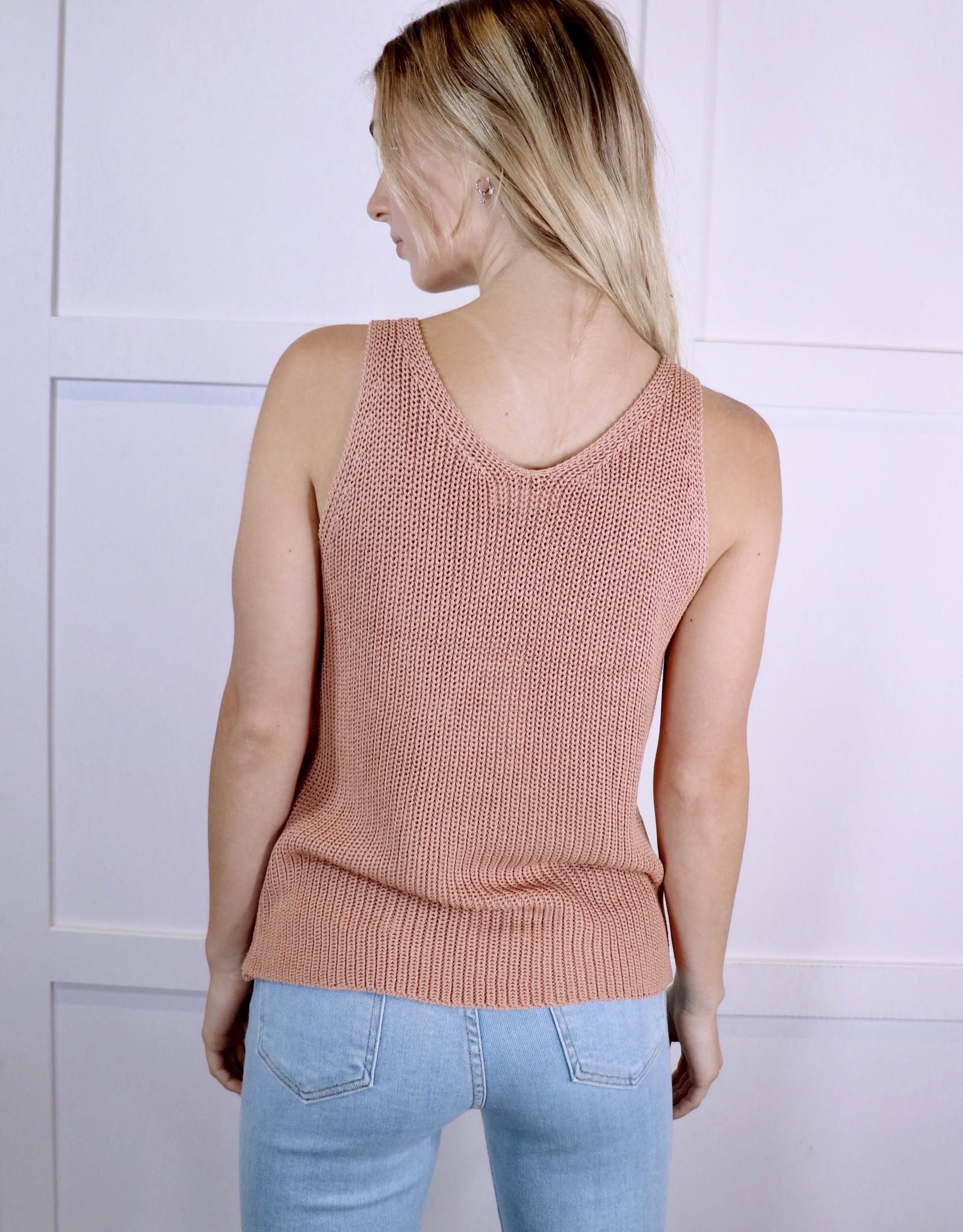 HUSH Knit scoop neck Sleeveless top